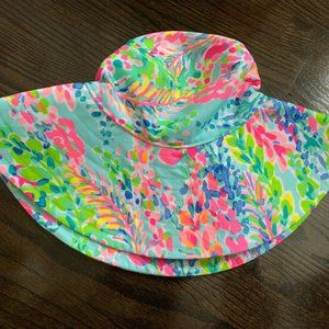 Lilly Pulitzer Sun Hat Multi Catch The Wave  NWT